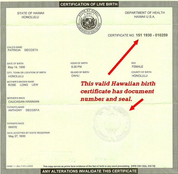 Gov abercrombie hawaii receives open letter on obamas birth the yadclub Choice Image