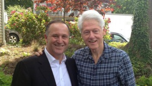 Key had lunch with the Clintons during his recent trip to the US