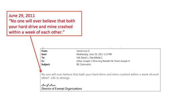 Lois Lerner Email