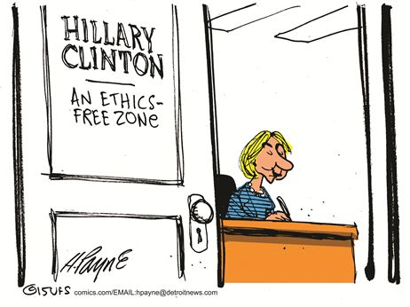 Clinton ethics free zone