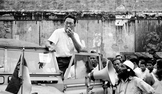 Lee Kuan Yew campaigns