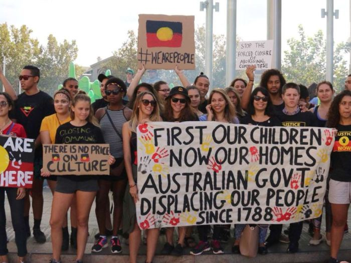 """Aborigine"" protesters in Perth CBD"