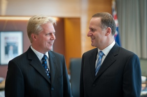 Revenue Minister McClay with PM John Key