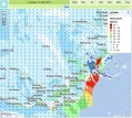 NSW wind speed map from yesterday.