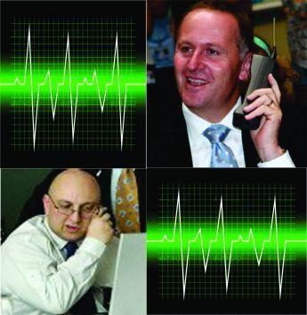 D & J on phone