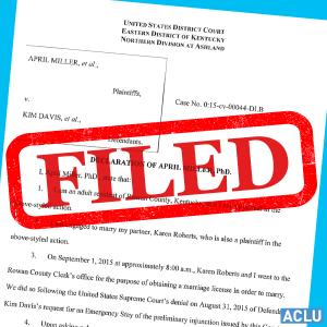 Kim Davis Affidavit