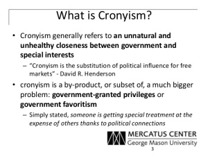 What is cronyism