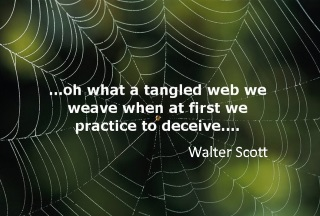 Oh what a tangled web the left do weave